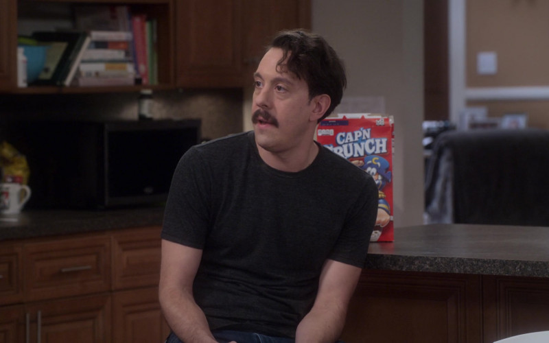 Cap'n Crunch Breakfast Cereal Enjoyed by Jonathan Kite as Johnny Williams in Dad Stop Embarrassing Me! S01E08 (1)