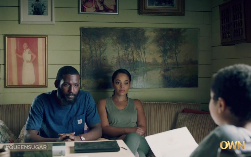 Carhartt Men's Blue T-Shirt in Queen Sugar S05E09 (1)