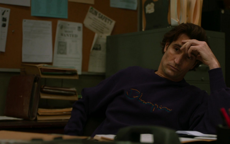 Champion Men's Hoodie in City on a Hill S02E03 Is the Total Black, Being Spoken (2021)