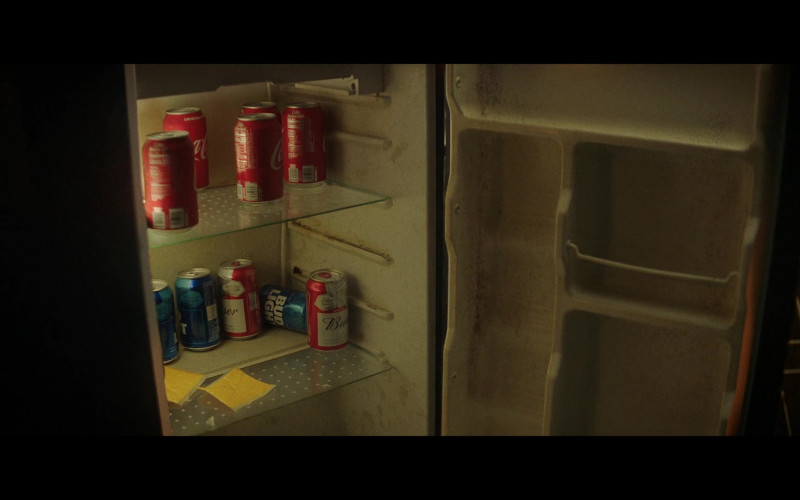 Coca-Cola Soda Cans, Budweiser and Bud Light Beer in Concrete Cowboy (2020)