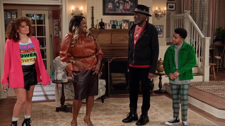 Converse Hi Top Shoes of Cameron J. Wright as Mazzi McKellan in Family Reunion S03E06