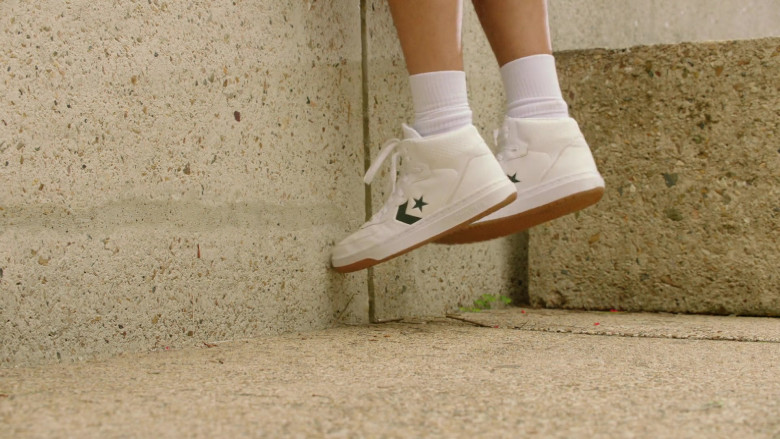 Converse White 'Rival Shoot' Men's Sneakers in Young Rock S01E07 TV Show 2021 (1)