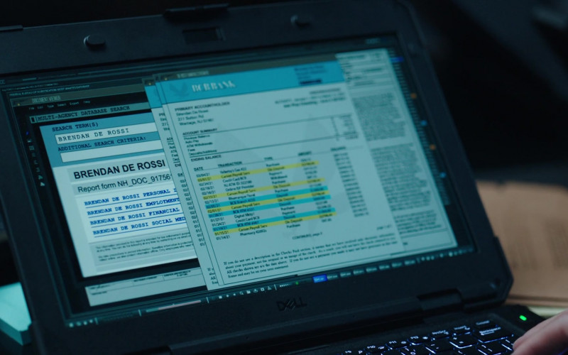 Dell Laptop in FBI Most Wanted S02E10 Spiderwebs (2021)