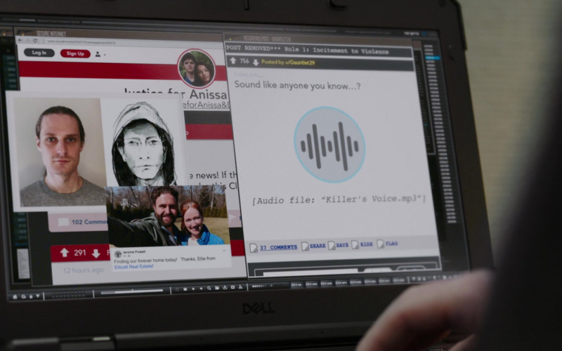 Dell Laptop in FBI Most Wanted S02E11 Obstruction (2021)