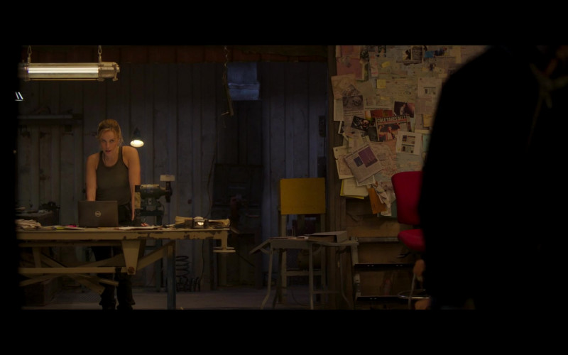 Dell Laptop of Jessica McNamee as Sonya Blade in Mortal Kombat (2021)