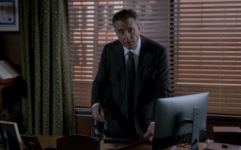 Dell Monitor of Andy Garcia as Julian Cruz in Rebel S01E02 TV Show 2021 (3)