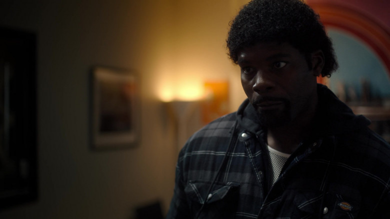Dickies Quilted Plaid Shirt Jacket (Hooded) in Snowfall S04E08 TV Show (3)