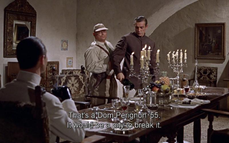 Dom Pérignon champagne in Dr. No (1962)