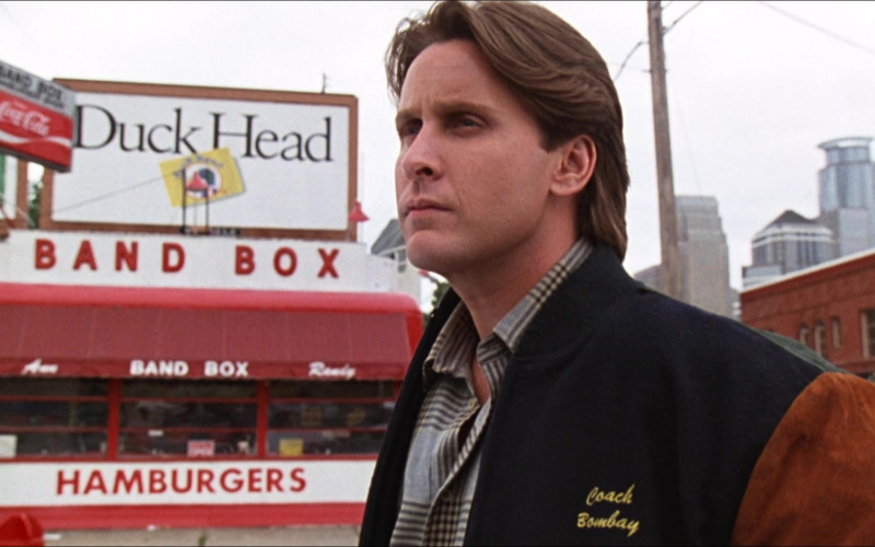 Duck Head Clothing Billboard and Coca-Cola Sign in D2 The Mighty Ducks (1994)