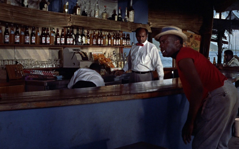 Fanta Soda, Red Stripe Beer, Philip Morris Cigarettes in Dr. No (1962)