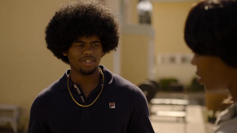 Fila Long Sleeved Shirt of Isaiah John as Leon Simmons in Snowfall S04E07 Through a Glass, Darkly (2021)