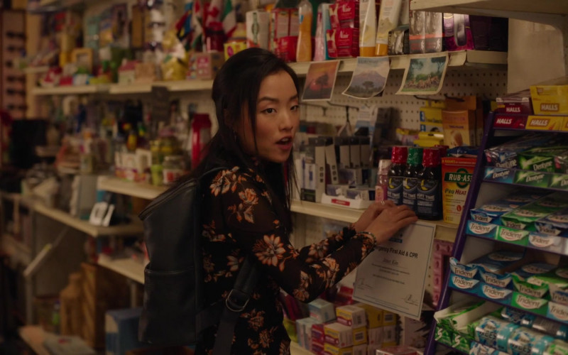 Halls Cough Drops, Dentyne and Trident Chewing Gums in Kim's Convenience S05E12 Hugs & Prayers (2021)