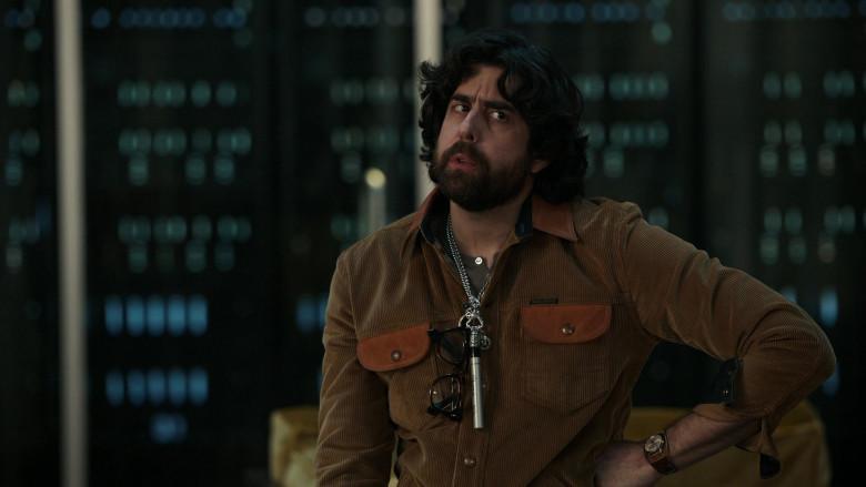 Indigofera Jacket and Sharpie Marker (around the neck) of Adam Goldberg as Harry Keshegian in The Equalizer S01E06