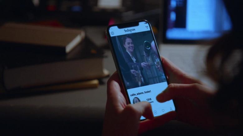 Instagram Social Network App in Good Trouble S03E08 TV Show (1)