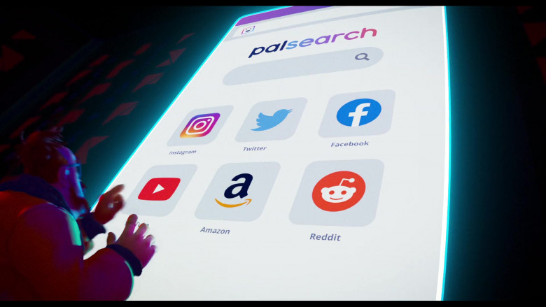 Instagram, Twitter, Facebook, Youtube, Amazon & Reddit in The Mitchells vs. the Machines (2021)