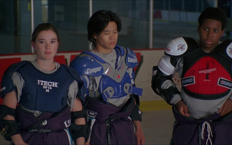 Itech, Cooper and Vaughn Hockey Shoulder Pads in D3 The Mighty Ducks (1996)