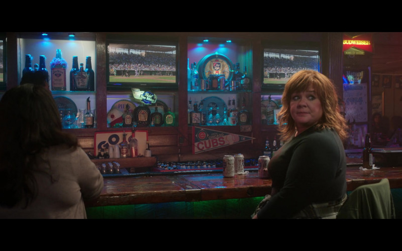 Jim Beam, Pabst Blue Ribbon, Old Style and Budweiser Sign in Thunder Force (2021)