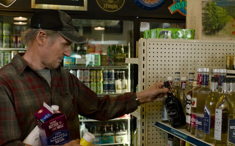 Kraken Rum Bottle Held by Liam Neeson as Jim Hanson in The Marksman (2021)