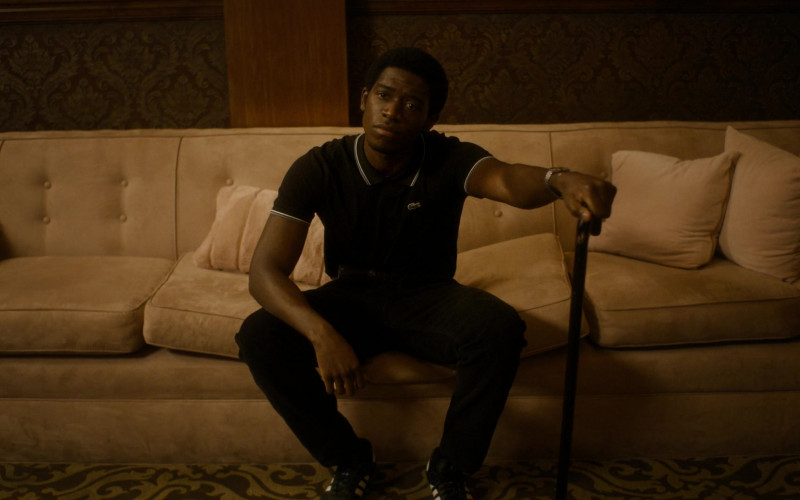 Lacoste Black Polo Shirt Worn by Damson Idris as Franklin Saint in Snowfall S04E08 TV SHow 2021 (1)