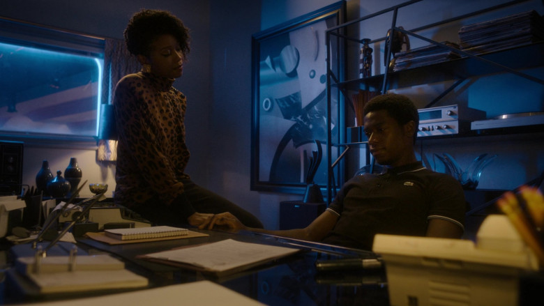 Lacoste Black Polo Shirt Worn by Damson Idris as Franklin Saint in Snowfall S04E08 TV SHow 2021 (3)