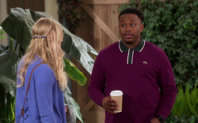 Lacoste Long Sleeved Shirt of Marcel Spears as Marty in The Neighborhood S03E14 Welcome to the Hero (2021)