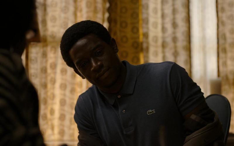 Lacoste Polo Shirt of Damson Idris as Franklin Saint in Snowfall S04E07 Through a Glass, Darkly (2021)