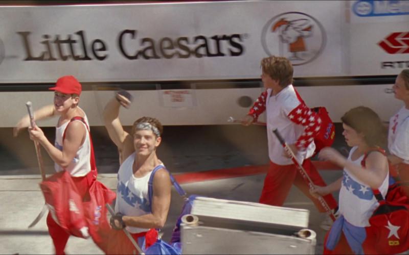 Little Caesars Restaurant Bus Advertising in D2 The Mighty Ducks 1994 (1)