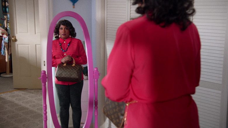 Louis Vuitton Handbag Held by Christina Anthony as Denise in Mixed-ish S02E09 (1)