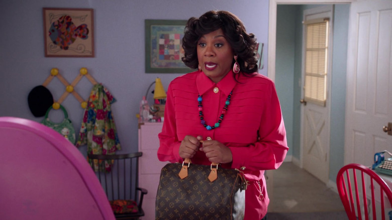 Louis Vuitton Handbag Held by Christina Anthony as Denise in Mixed-ish S02E09 (2)