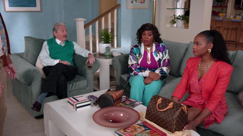 Louis Vuitton Handbag of Tika Sumpter as Alicia Johnson in Mixed-ish S02E09 TV Show 2021 (8)