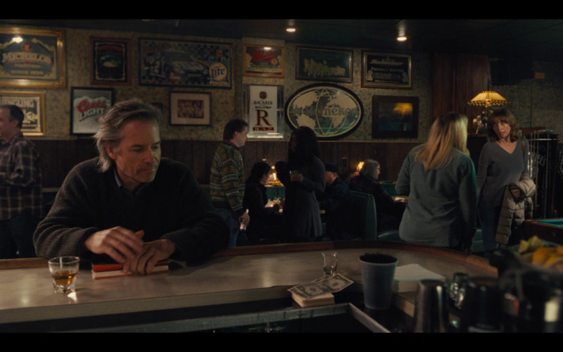 Michelob, Miller Lite, Miller High Life, Budweiser, Coors Light, Bacardi, Heineken in Mare of Easttown Episode 1 Miss
