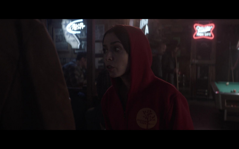 Miller High Life Beer Neon Sign in Made for Love S01E02 Another (2021)