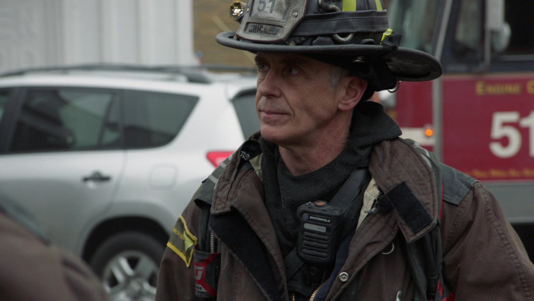 Motorola Radios Used by Firefighters (Actors) in Chicago Fire S09E10 TV Series (2)
