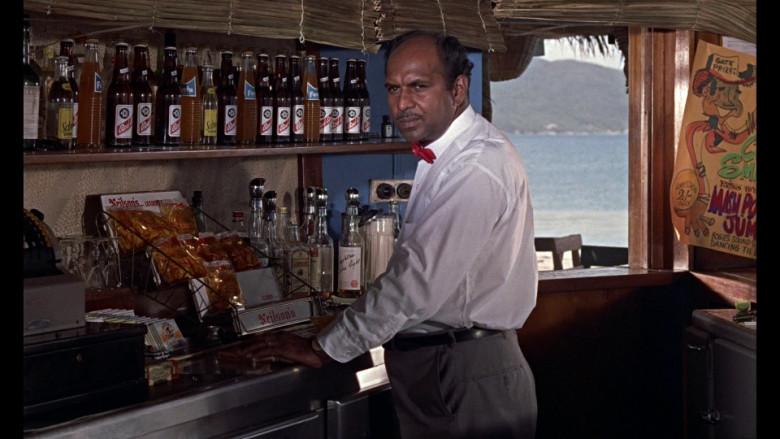 Nelson's, Schweppes, Fanta, Gordon's London Dry Gin & Red Stripe Beer in Dr. No (1962)