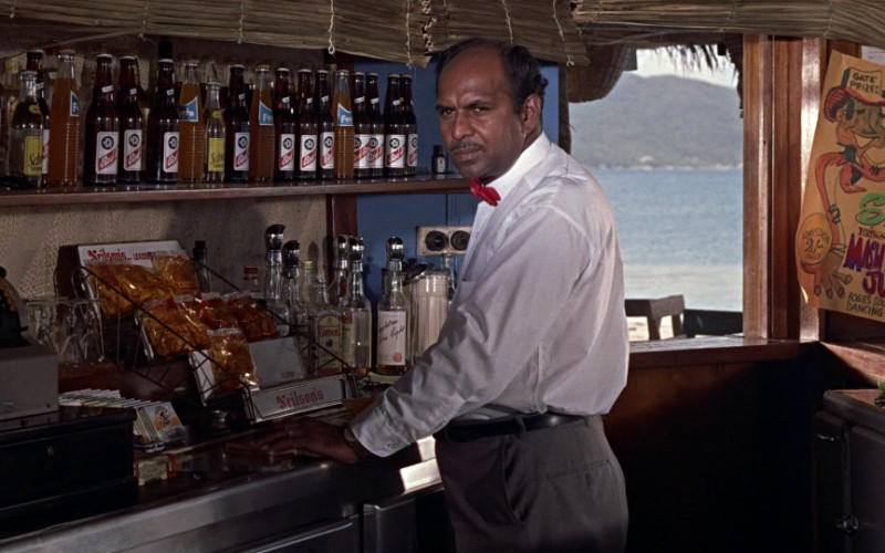 Nelson's, Schweppes, Fanta, Gordon's London Dry Gin & Red Stripe Beer in Dr. No (1962)