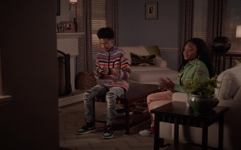 Nike Air Jordan 1 Sneakers Worn by Miles Brown as Jack Johnson in Black-ish S07E19 Missions & Ambitions (2021)