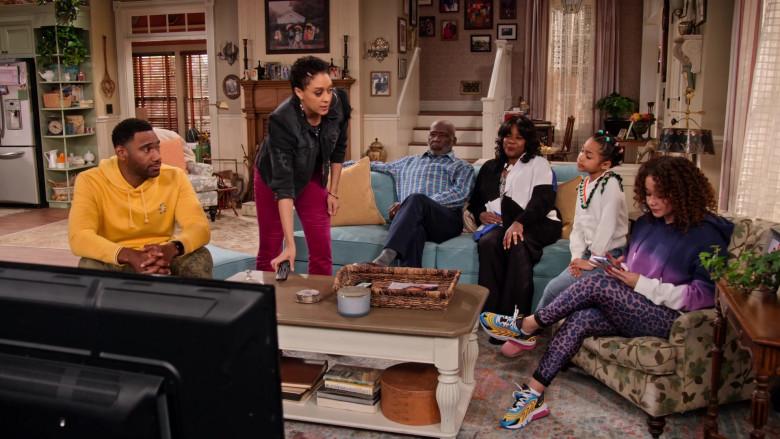 Nike Air Max 270 React Multicoloured Sneakers of Talia Jackson as Jade McKellan in Family Reunion S03E03