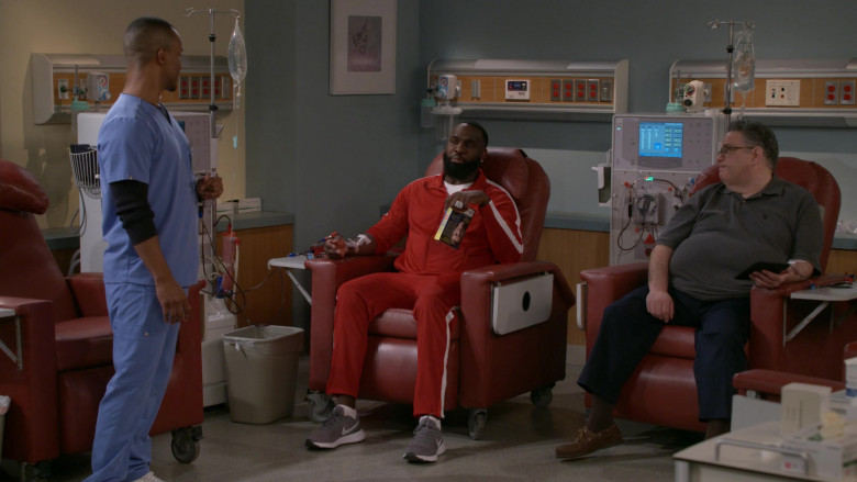 Nike Epic React Grey Running Shoes of Terrence Terrell as Eli in B Positive S01E12 Canine Extraction (2021)