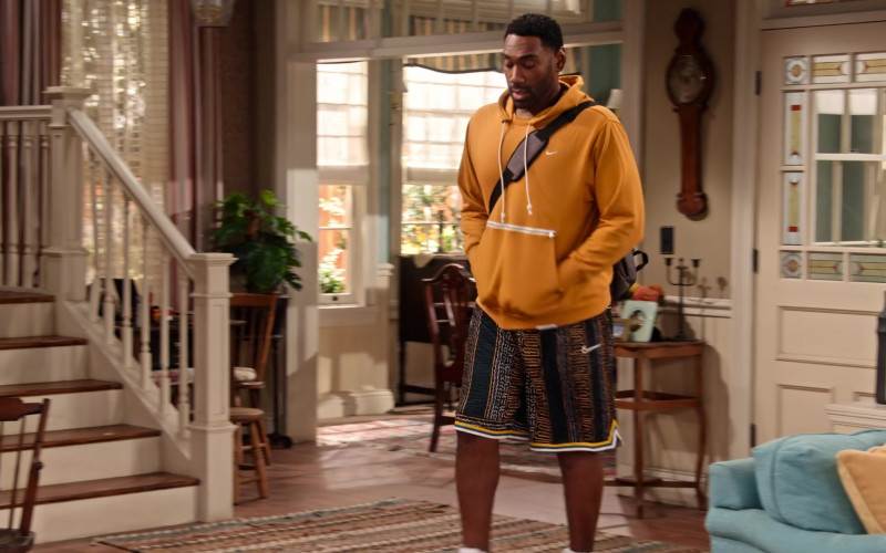 Nike Hoodie and Shorts Worn by Anthony Alabi as Moz McKellan in Family Reunion S03E07 (1)