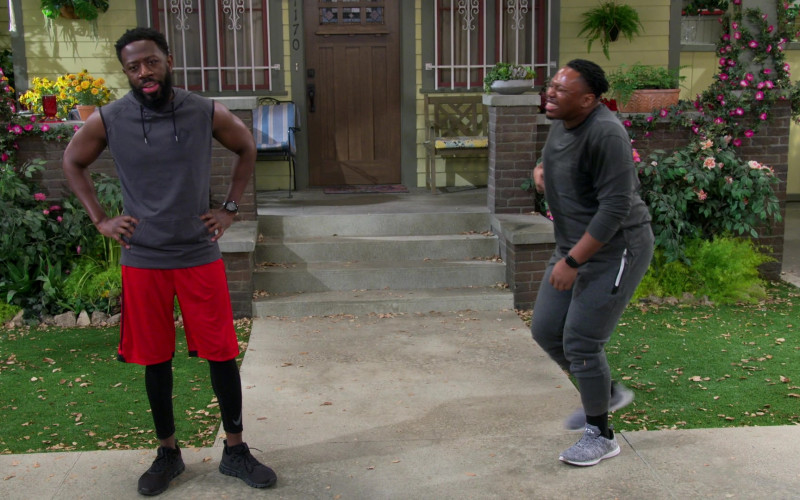 Nike Men's Compression Pants of Sheaun McKinney as Malcolm in The Neighborhood S03E15 (1)