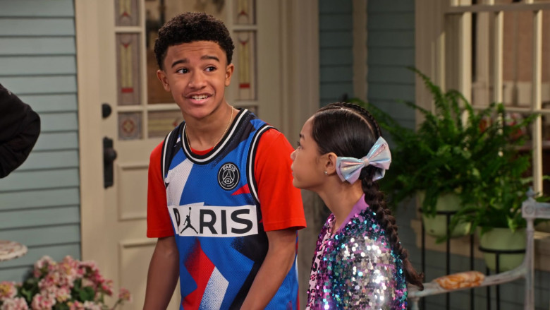 Nike Paris Saint-Germain Mesh Shirt of Cameron J. Wright as Mazzi McKellan in Family Reunion S03E08 (1)