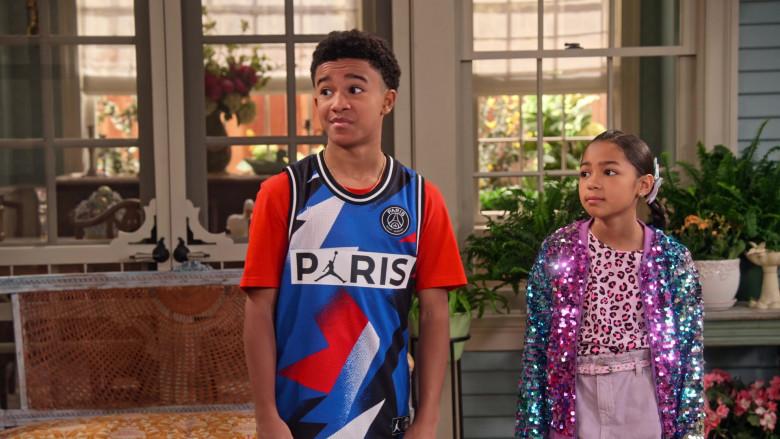Nike Paris Saint-Germain Mesh Shirt of Cameron J. Wright as Mazzi McKellan in Family Reunion S03E08 (2)