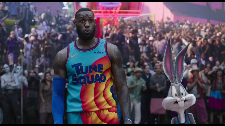 Nike 'Tune Squad' Basketball Team Jersey Worn by LeBron James in Space Jam 2 Movie (5)