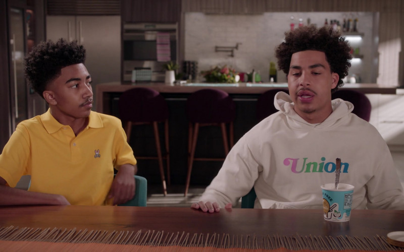 Psycho Bunny Yellow Polo Shirt Worn by Miles Brown as Jack Johnson in Black-ish S07E19 (1)