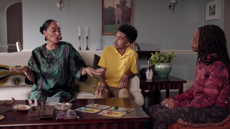 Psycho Bunny Yellow Polo Shirt Worn by Miles Brown as Jack Johnson in Black-ish S07E19 (2)
