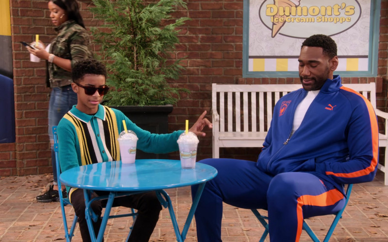 Puma Blue Tracksuit of Anthony Alabi as Moz McKellan in Family Reunion S02E05 (3)