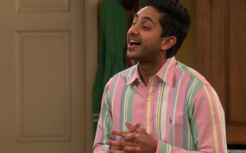 Ralph Lauren Shirt of Adhir Kalyan as Awalmir in United States of Al S01E03 TV Show 2021 (2)