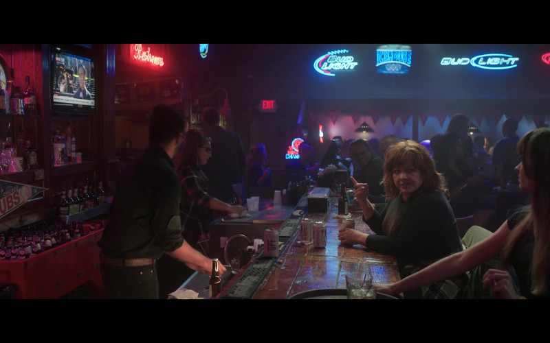 SPF Goose Island Beer Can, Bud Light and Icehouse Signs in Thunder Force (2021)