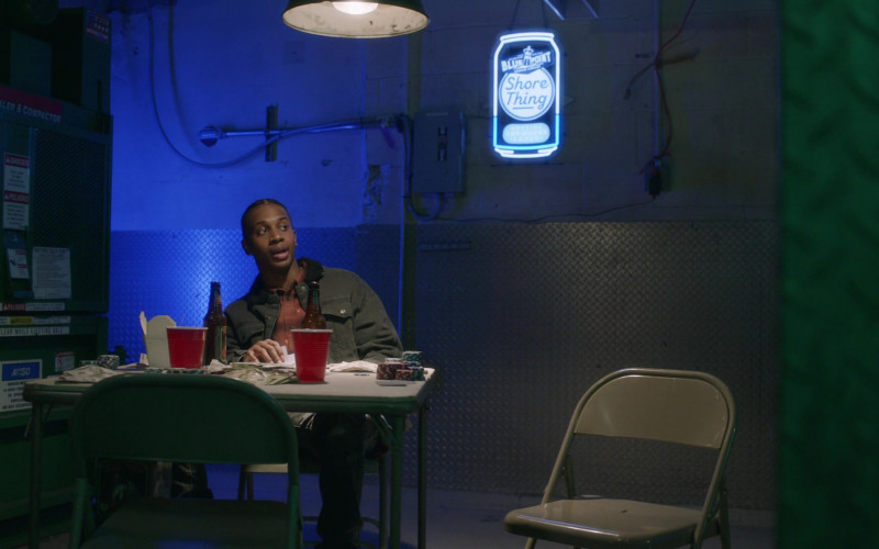 Shore Thing by Blue Point Brewing Company Neon Sign in Blue Bloods S11E10 The Common Good (2021)