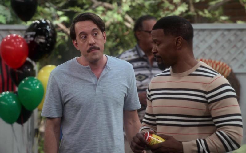Slap Ya Mama All Natural Cajun Seasoning Held by Jamie Foxx as Brian Dixon in Dad Stop Embarrassing Me! TV Show